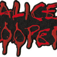 Alice Cooper Iron-On Patch Red Letters Logo