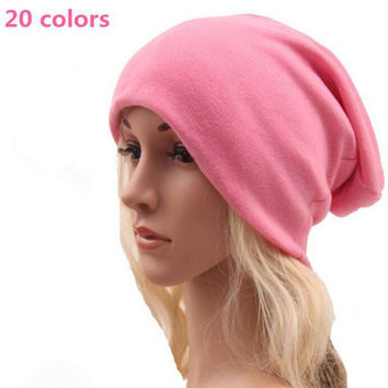 2015 New Autumn Winter Beanies Solid Color Hat Unisex Plain Warm Soft Beanie Skull Knit Cotton Cap Hats Knitted Touca Gorro Caps
