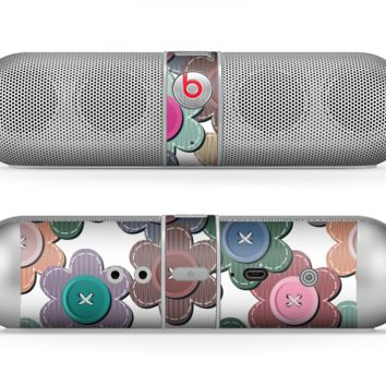 The Striped Vector Flower Buttons Skin for the Beats by Dre Pill Bluetooth Speaker