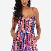 Cute Rompers-Sexy Printed Rompers-Colorful spaghetti straps romper