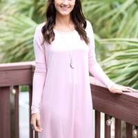 Time Well Wasted Blush Long Sleeve Dress