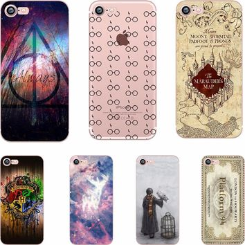 ciciber Phone Case Harry Potter Design Soft TPU Clear Transparent Case Cover for Apple IPhone 6 6S 7 7plus 5S SE X Coque Fundas