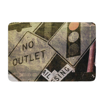 "Heidi Jennings ""City Outing"" Urban Signs Memory Foam Bath Mat"