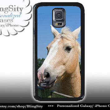 Horse Face S5 Case Equine Palamino Horse Galaxy S4 Case S3 Cover Note 2 3 4 Shell Cover Skin Bumper Equestrian Photo