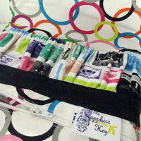 EO / Nail Polish / Cosmetic Travel Pouch -- Cassette Tape Print