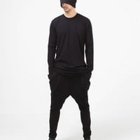 Mens Drop Crotch Wing Pocket Sweats Sarouel Jogger at Fabrixquare