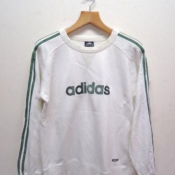 25% SALES ALERT Vintage 90's Adidas Big Spell Out Logo Sweatshirt Pull Over Sport Swea