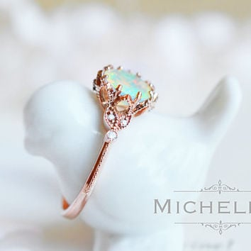 welo ring com opal gold handmade genuine engagement online buy gift at rings wedding