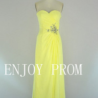 A-line Sweetheart Chiffon floor-Length Bridesmaid/Evening/Prom Dress