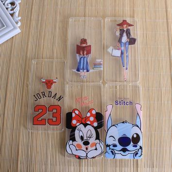 Covers For Huawei Ascend P8 Lite Nova Cases Silicon TPU Clear Minnie Mickey 23 Jordan