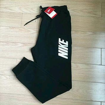 LMFON Women Autumn Winter Fashion 'NIKE' Print Thick Sport Stretch Pants Trousers Sweatpants Gym Jogging Exercise Casual Sportswear