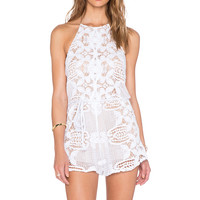Miguelina Harriet Romper in Pure White