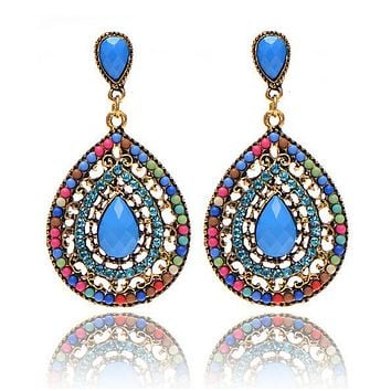 Bohemian style New Fashion  Earrings Unique Design Fashion Jewelry Wedding Gift 6 Colors