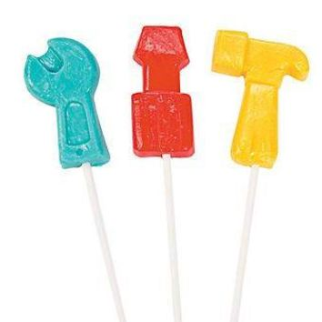 Construction Tools Lollipops, Handyman Party Favors, Tool Suckers, Construction Party (12 lollipops)