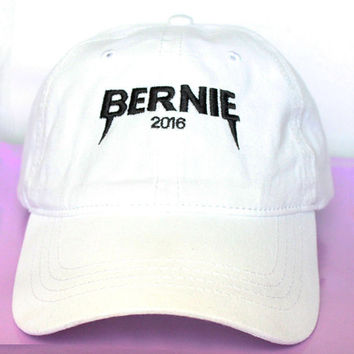 NEW Bernie Sanders YEEZUS 2016 Dad Hat Baseball Hat Democratic Presidential Nominee low profile Baseball Cap Strap Back WHITE