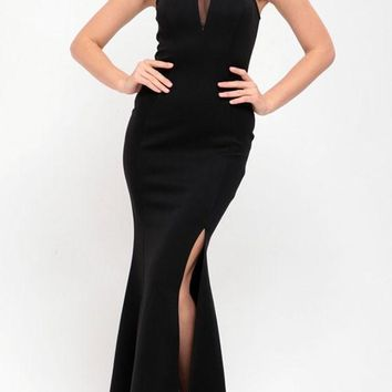 Black Patchwork Sequin Grenadine Slit Mermaid Off-Shoulder Wedding Bridesmaid Prom Gowns Maxi Dress