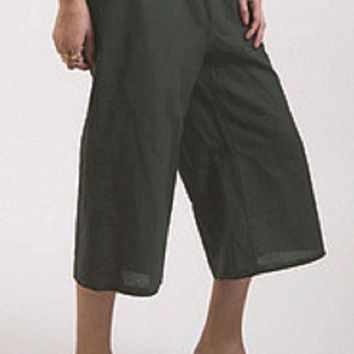 Linen Knee Length Pants - Cara