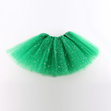 Bling Baby Girl Kids Tutu Skirt Star Sequins Princess Ballet Dancewear Pettiskirt Costume SM6