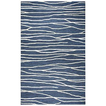 ID970A Idyllic Hand-Tufted Area Rug, Navy, 10' x 13' By Rizzy Home