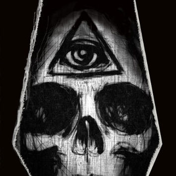 Illuminati Skull canvas print