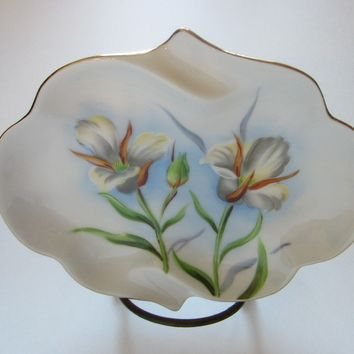 Sego Lili Utah Mid Century Porcelain Platter Hand Painted Marked