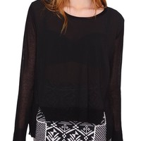 Early Season Top - Black Sheer