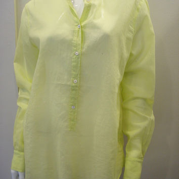 giada forte silk cotton button front shirt