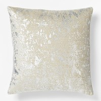 Metallic Texture Pillow Cover - Silver