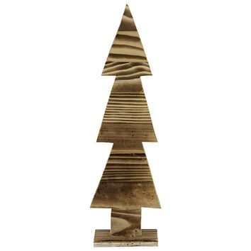 "16.25"" Rustic Wood Cut-Out Christmas Tree Table Top Decoration"