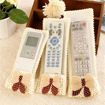 Household Air Conditioning TV Protective Lace Remote Control Storage Bags 3 colors Dust Cover jacke Products