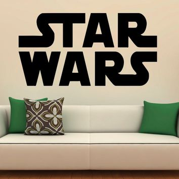 Star Wars Logo Wall Decal Vinyl Stickers Home Interior Art Design Murals Bedroom Wall Decor Made in US