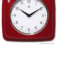 Red Retro Kitchen Clock | Wall Decor | RetroPlanet.com