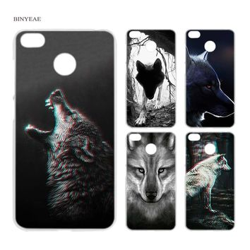 BINYEAE Classic Cool Wolf Hipster Clear Case Cover Shell for Xiaomi Redmi Note MI A1 4X 5 5A 4 4A 3 Plus 5X
