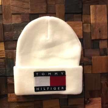 One-nice™ TOMMY HILFIGER Fashion Beanies Winter Embroidery Hat Cap