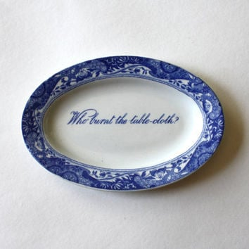 Who Burnt the Tablecloth Copeland Spode's Dish