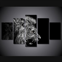 Lion's Roar 5-Piece Wall Art Canvas