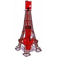 "17"" Acrylic Glass On Glass Eiffel Tower Water Pipe"