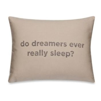 Kenneth Cole Reaction Home Mineral Dreamers Oblong Throw Pillow in Oatmeal