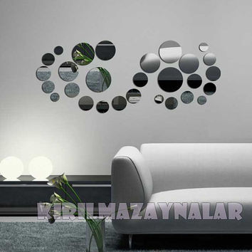 Decorative Wall art  rounds Shatterproof  mirror decor new design