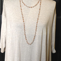 Copper/Sand Double Wrap Necklace