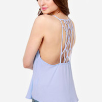 Bridge the Strap Sky Blue Tank Top