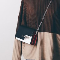 2018 Fashion Design Womens Chain Detail Crossbody Bag Ladies Shoulder Bag Female INS Hot  Korean Ulzzang Chic Style Messenger