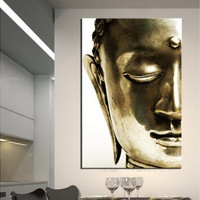 """Budda Painting Canvas Prints for Home Decoration No Frame Size: 20""""x30""""(50x75cm) (Color: Multicolor)"""