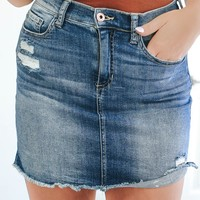 Chesapeake Bay Denim Skirt