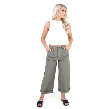 Women's Wide Leg Cropped Pants