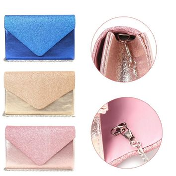 THINKTHENDO 2017 Fashion Women Lady Wallet Clutch Shoulder Bag Evening Party Handbags Bridal Metal Chain Handbag Purse New