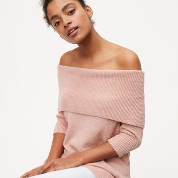 Ribbed Off The Shoulder Sweater | LOFT