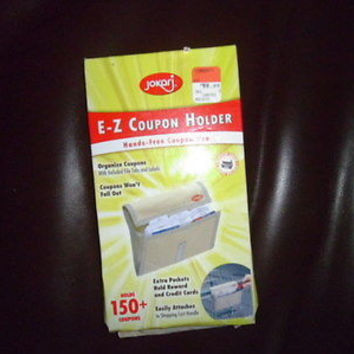 JOKARJ E - Z COUPON HOLDER;HOLDS 150+COUPONS;ATTACH TO SHOPPING CART;EXTRA POCKE