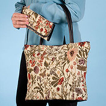 Tapestry Tote and Wallet