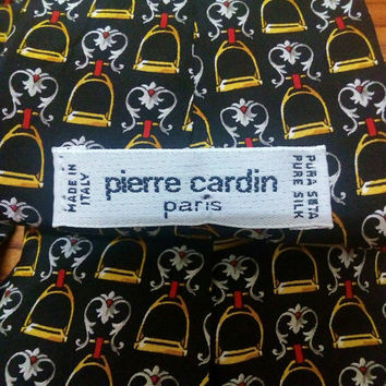 Vintage necktie Pierre Cardin paris pure silk gift for man gift for father gift